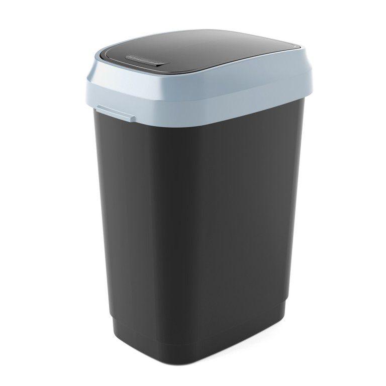 Koš na odpadky Dual Swing Bin M - 25 litrů,černý