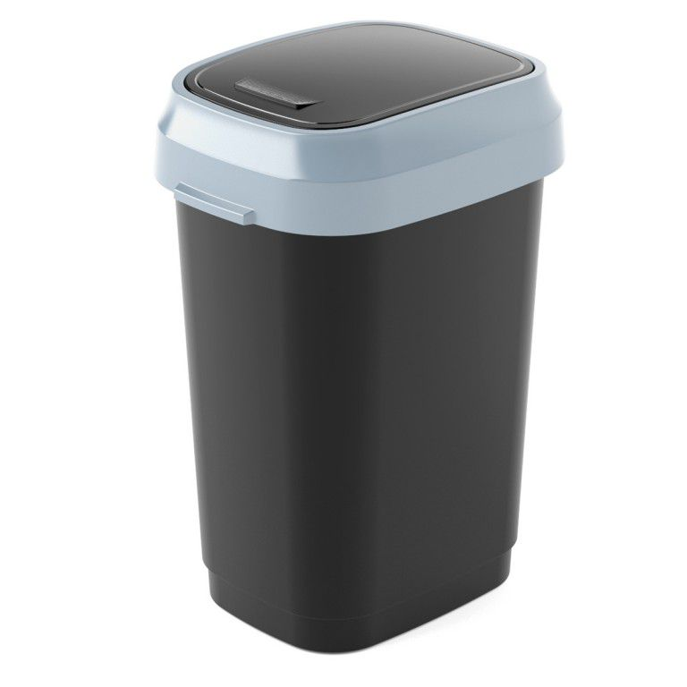 Koš na odpadky Dual Swing Bin S - 10 litrů, černý