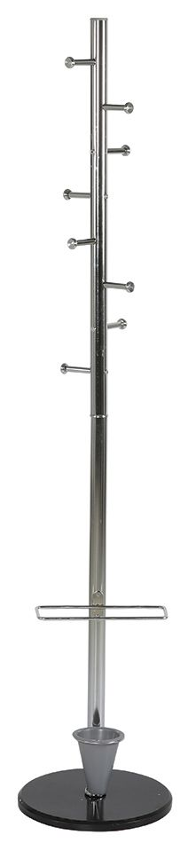 Kovový stojanový věšák s držákem deštníků - Ladder Coat Rack