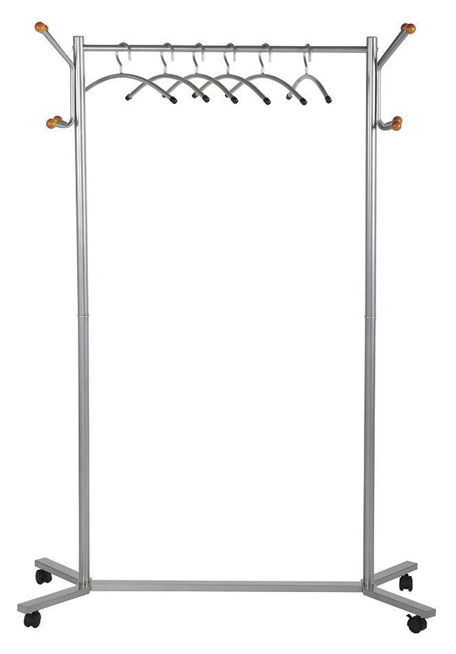 Mobilní kovový stojanový věšák s ramínky - Coat Hanger Stand
