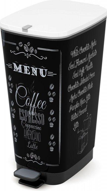 Plastový Koš na odpadky Chic Bin L - Coffee, 50 litrů