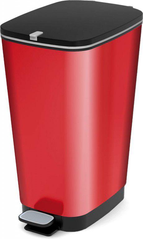 Plastový Koš na odpadky Chic Bin L - Metal Red, 50 litrů