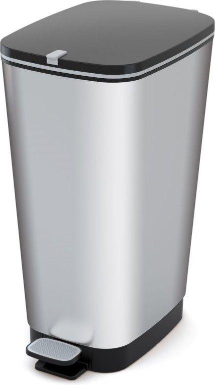 Plastový Koš na odpadky Chic Bin L - Steel, 50 litrů