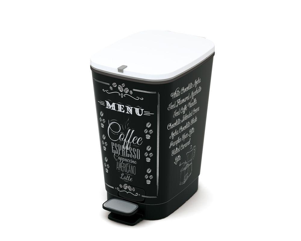 Plastový Koš na odpadky Chic Bin M - Coffee, 35 litrů