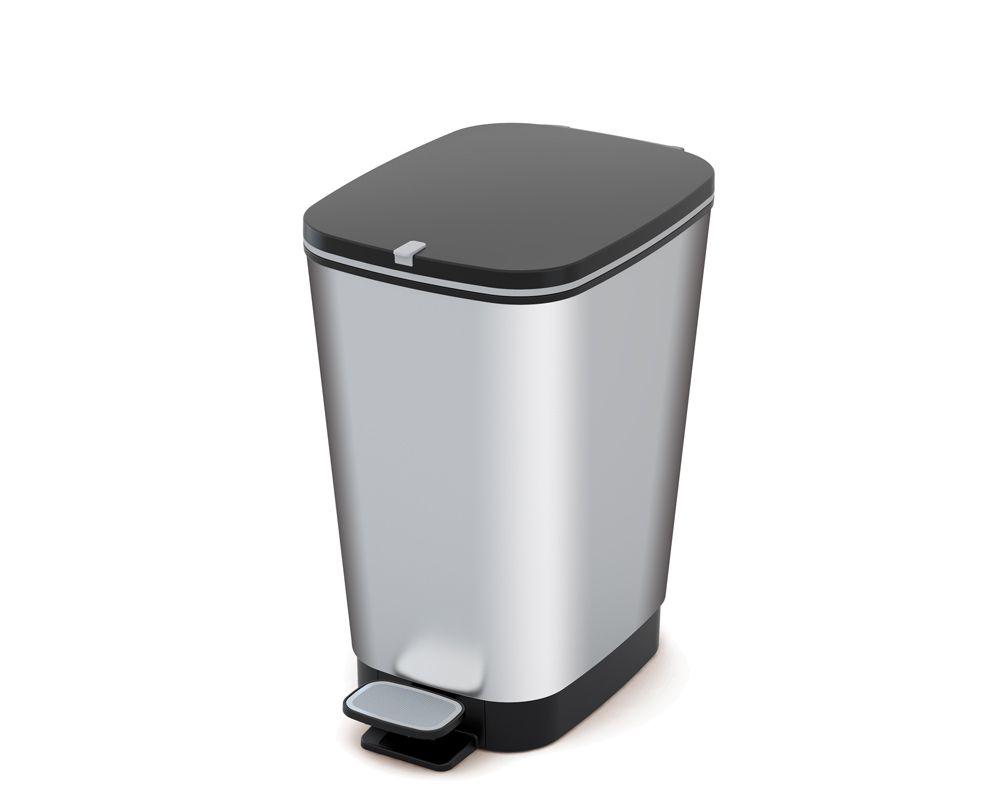 Plastový Koš na odpadky Chic Bin M - Steel, 35 litrů
