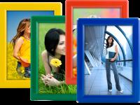 Foto rámeček na stůl i stěnu Opti Frame A5 - Žlutý A-Z Reklama CZ