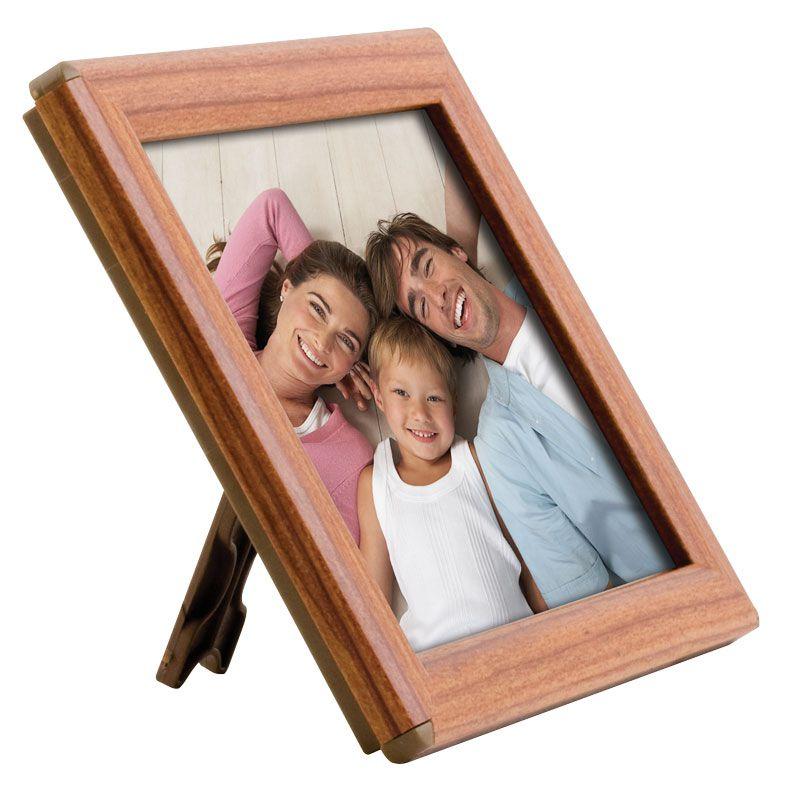 Foto rámeček na stůl i stěnu Opti Frame A6 Dekor dřevo