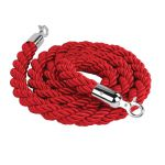 Červené lano koncovky chrom 2000mm