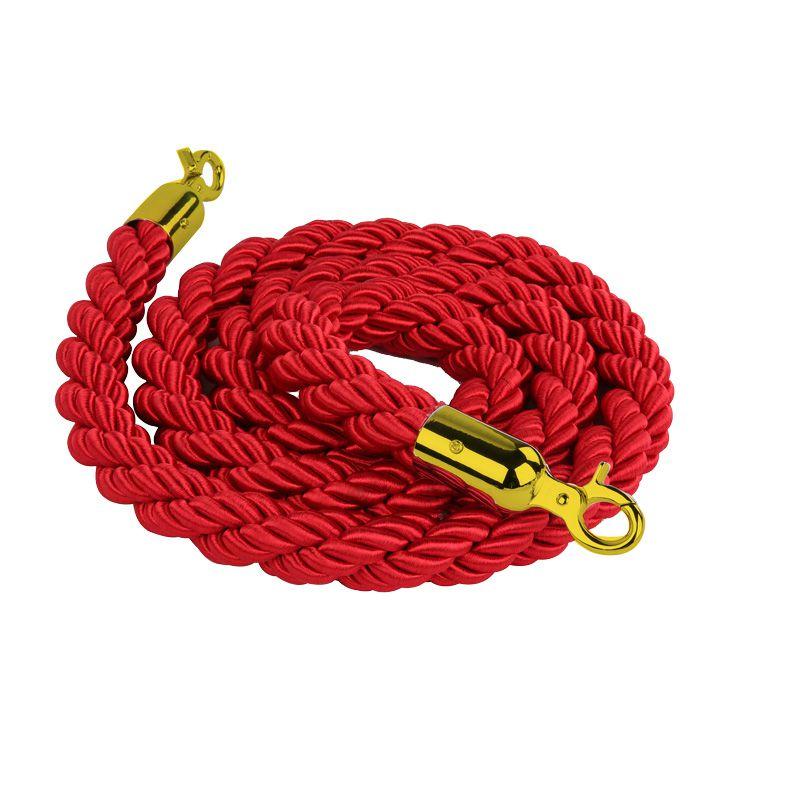 Červené lano na barierový sloupek - mosaz 2 m