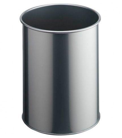 Kovový odpadkový koš 15 - Stříbrný