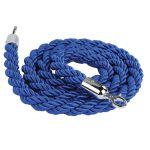 Modré lano koncovky chrom 2000mm