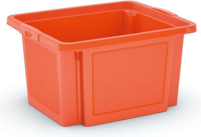 KIS Plastový úložný box - H Box S, oranžový, 23 L