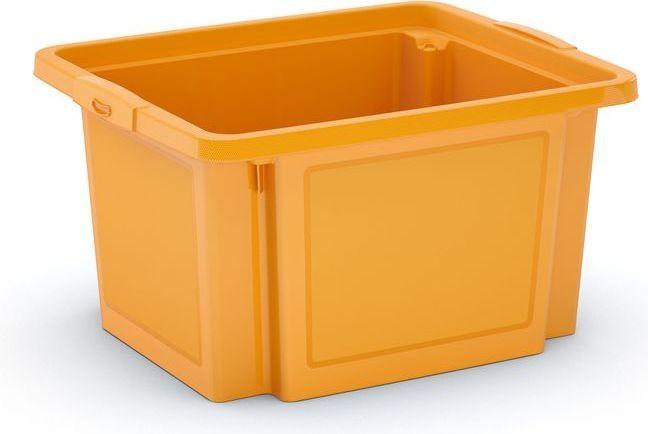 KIS Plastový úložný box - H Box S, žlutý, 23 L