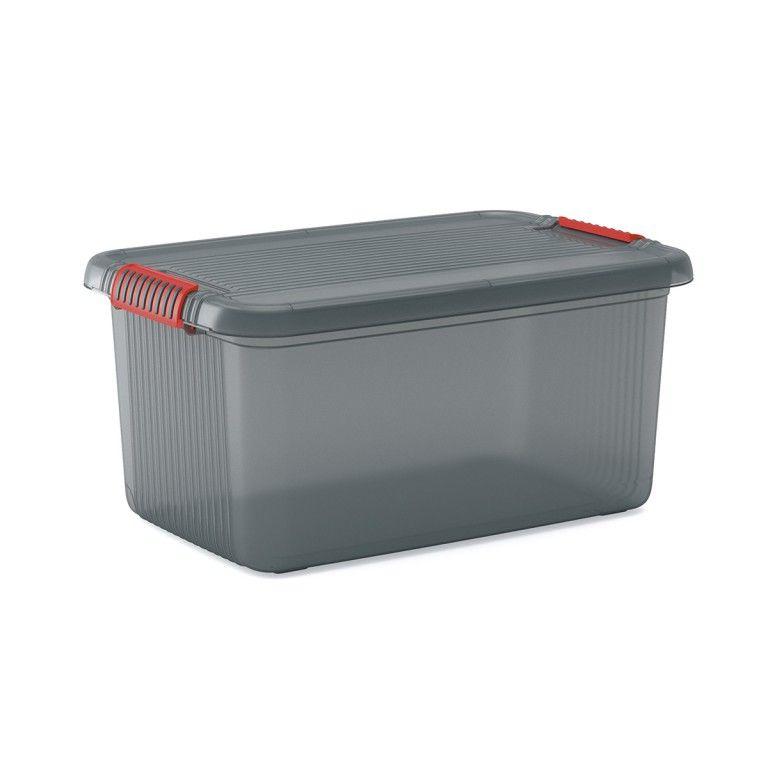 KIS Plastový úložný box - K Latch Box L, Šedý