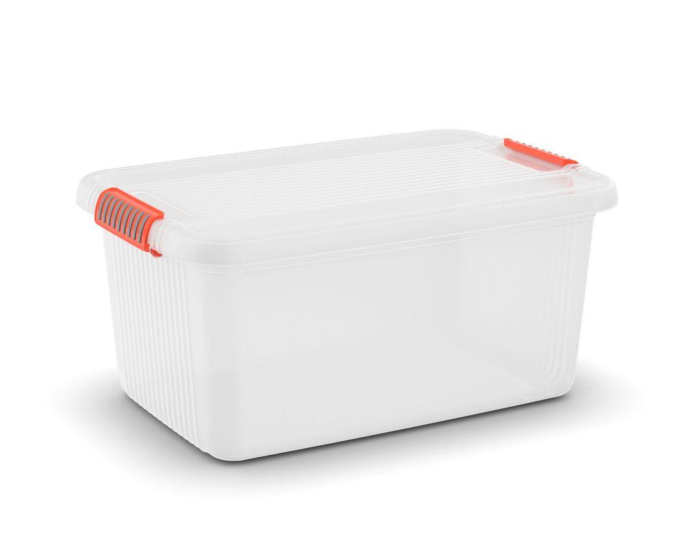 KIS Plastový úložný box - K Latch Box L, Transparentní