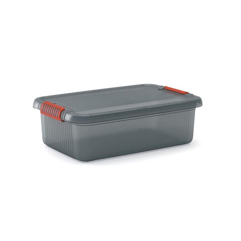 KIS Plastový úložný box - K Latch Box M, Šedý