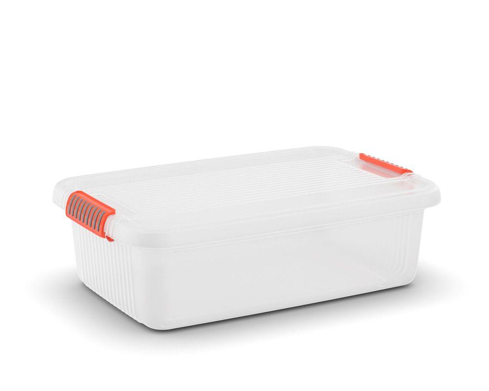KIS Plastový úložný box - K Latch Box M, Transparentní