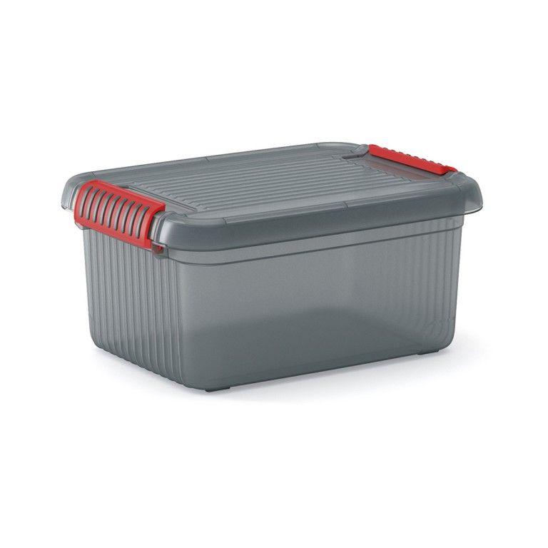KIS Plastový úložný box - K Latch Box S, Šedý