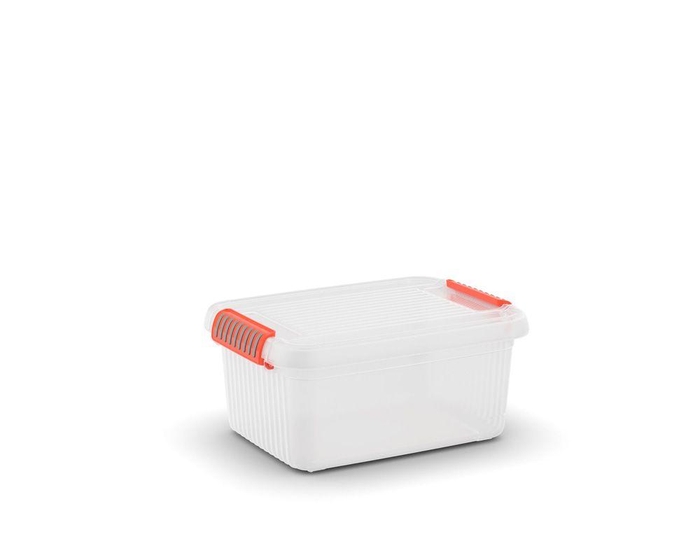 KIS Plastový úložný box - K Latch Box S, Transparentní