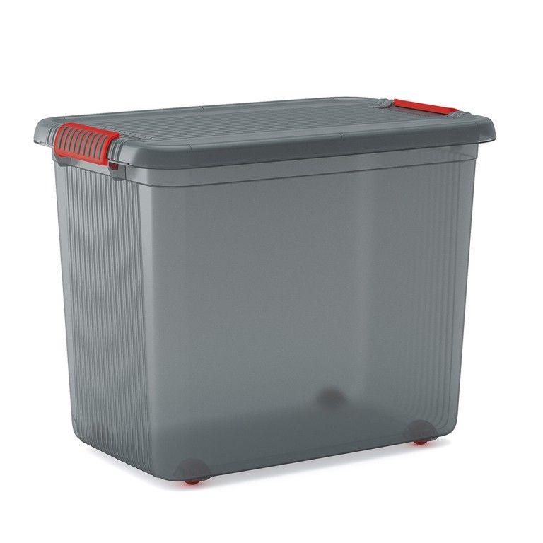 KIS Plastový úložný box - K Latch Box XXL, Šedý
