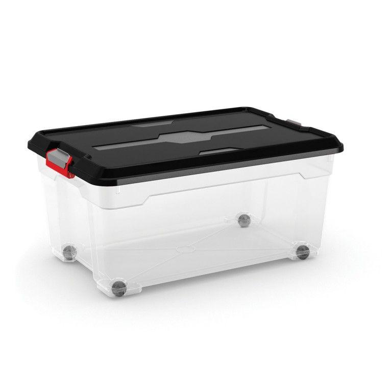 KIS Plastový úložný box - Moover Box L, černý, 39 L