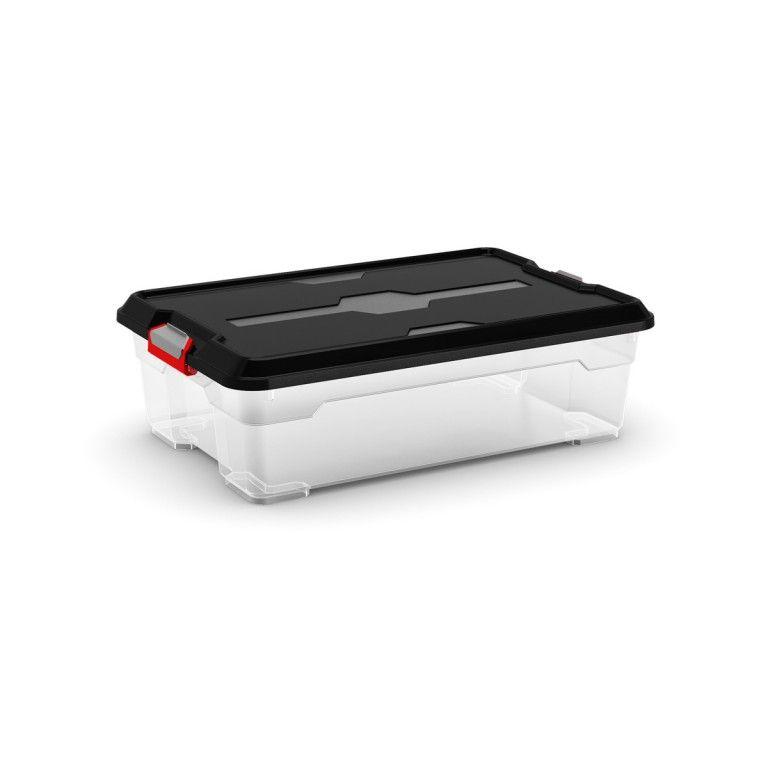 KIS Plastový úložný box - Moover Box M, černý, 25 L