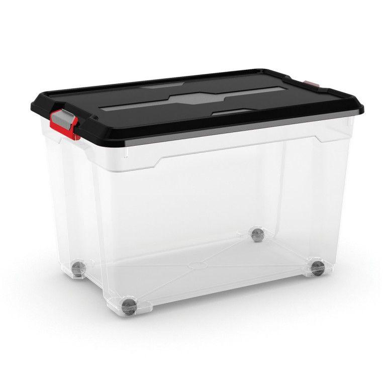 KIS Plastový úložný box - Moover Box XL, černý, 60 L