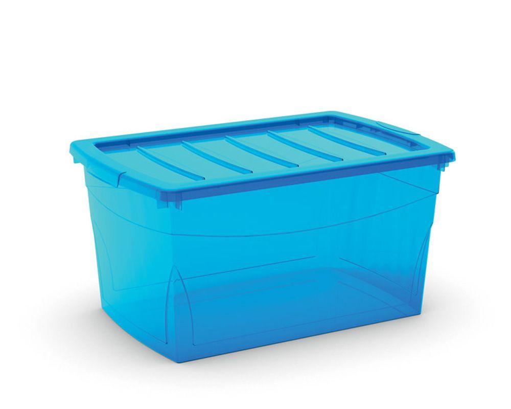 KIS Plastový úložný box Omnibox L Modrý 49,5 L