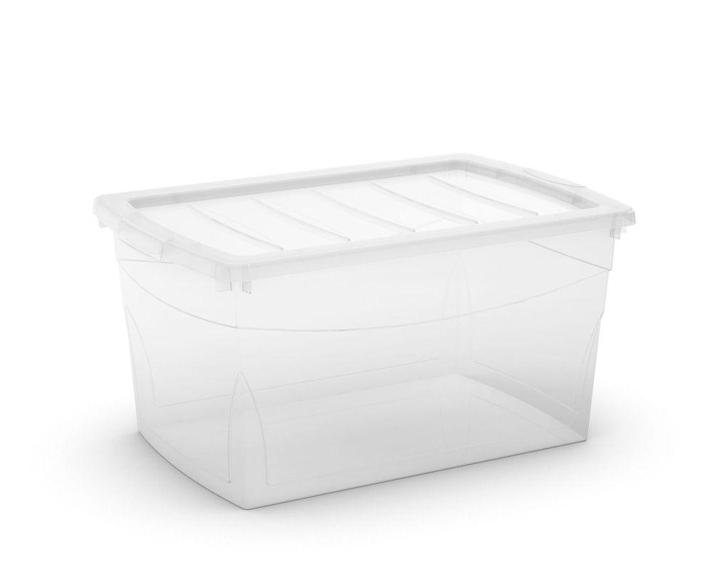 KIS Plastový úložný box Omnibox L Průhledný 49,5 L