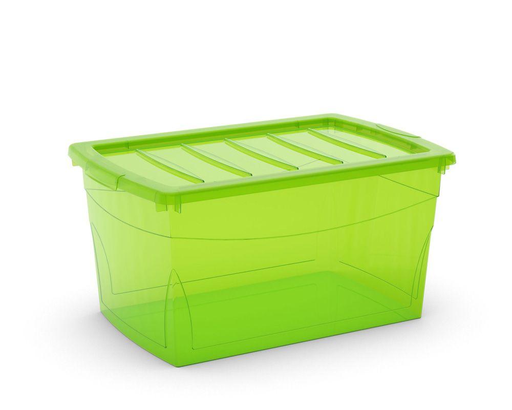 KIS Plastový úložný box Omnibox L Zelený 49,5 L