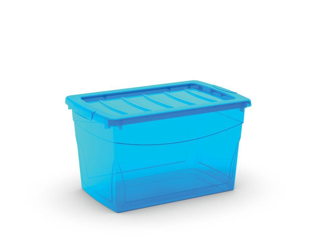 KIS Plastový úložný box Omnibox M Modrý 30 L
