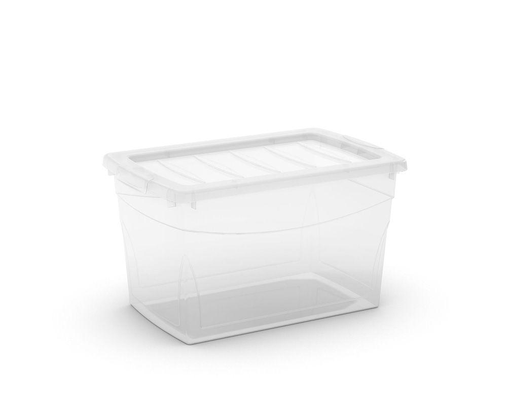 KIS Plastový úložný box Omnibox M Průhledný 30 L