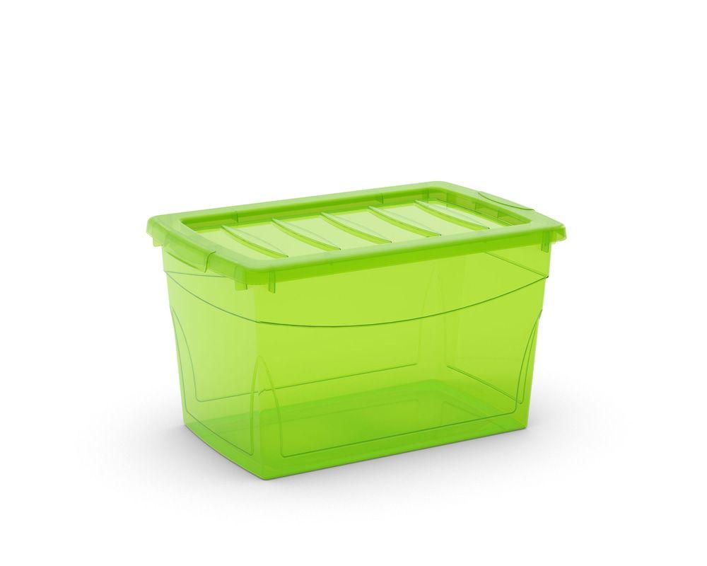 KIS Plastový úložný box Omnibox M Zelený 30 L