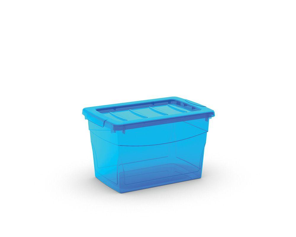 KIS Plastový úložný box Omnibox S Modrý 16 L