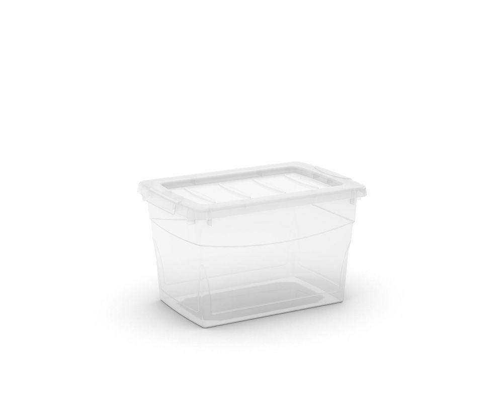 KIS Plastový úložný box Omnibox S Průhledný 16 L