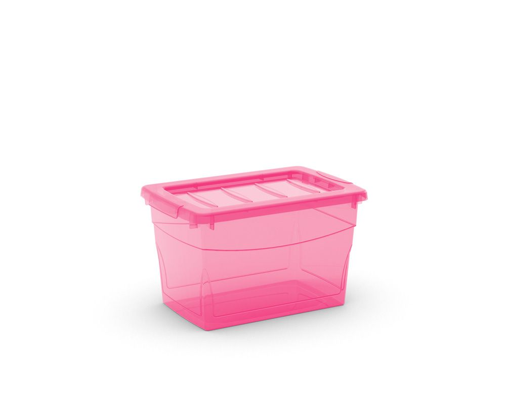 KIS Plastový úložný box Omnibox S Růžový 16 L