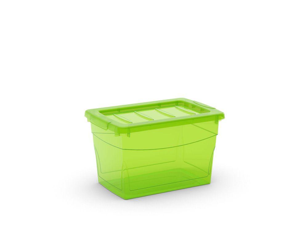 KIS Plastový úložný box Omnibox S Zelený 16 L