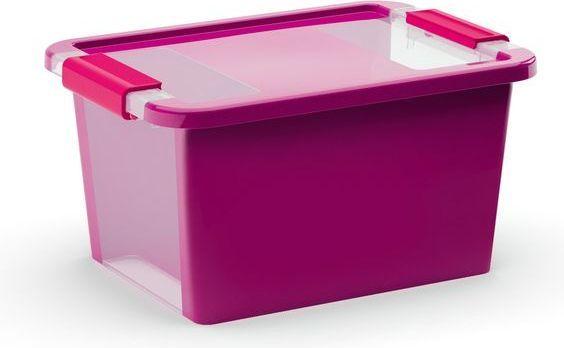 KIS Plastový úložný box s průhledy - Bi Box S - Fialový 11 L
