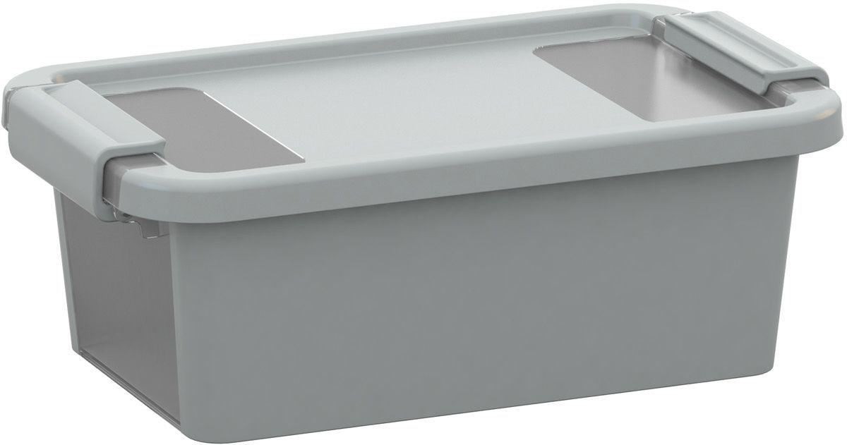 KIS Plastový úložný box s průhledy - Bi Box XS - Šedý 3 L