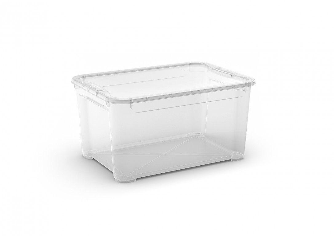 KIS Plastový úložný box - T Box L, Transparentní, 47 L