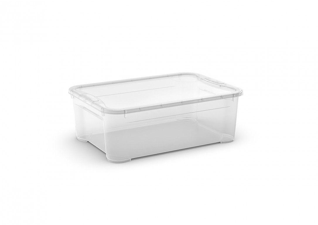KIS Plastový úložný box - T Box M, Transparentní, 31 L