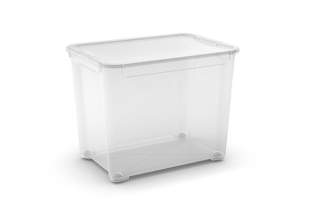 KIS Plastový úložný box - T Box XL, Transparentní, 70 L