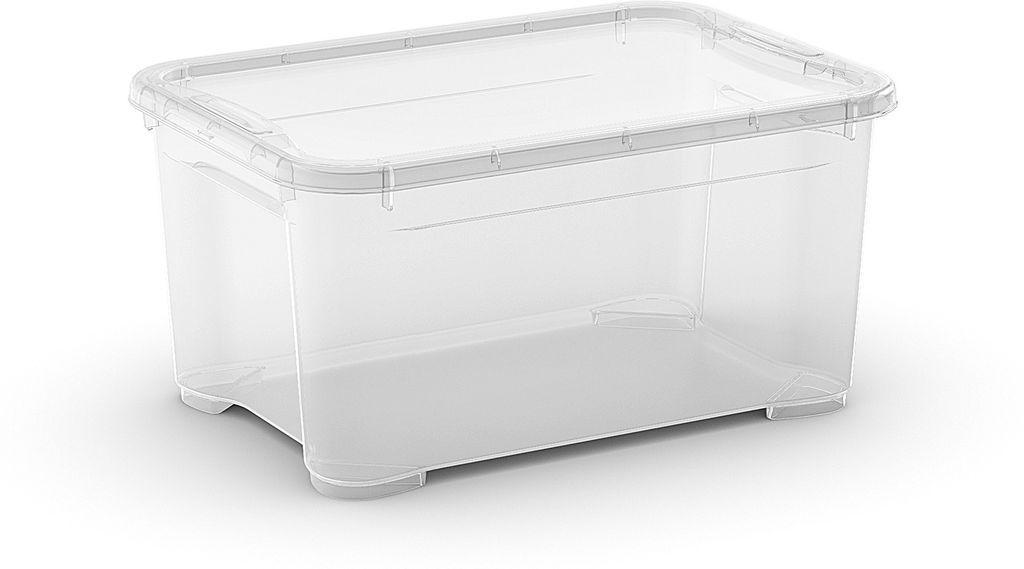 KIS Plastový úložný box - T Box XS, Transparentní, 14 L
