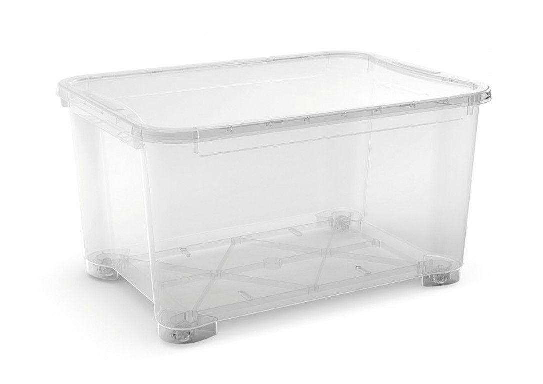KIS Plastový úložný box - T Box XXL, Transparentní, 145 L