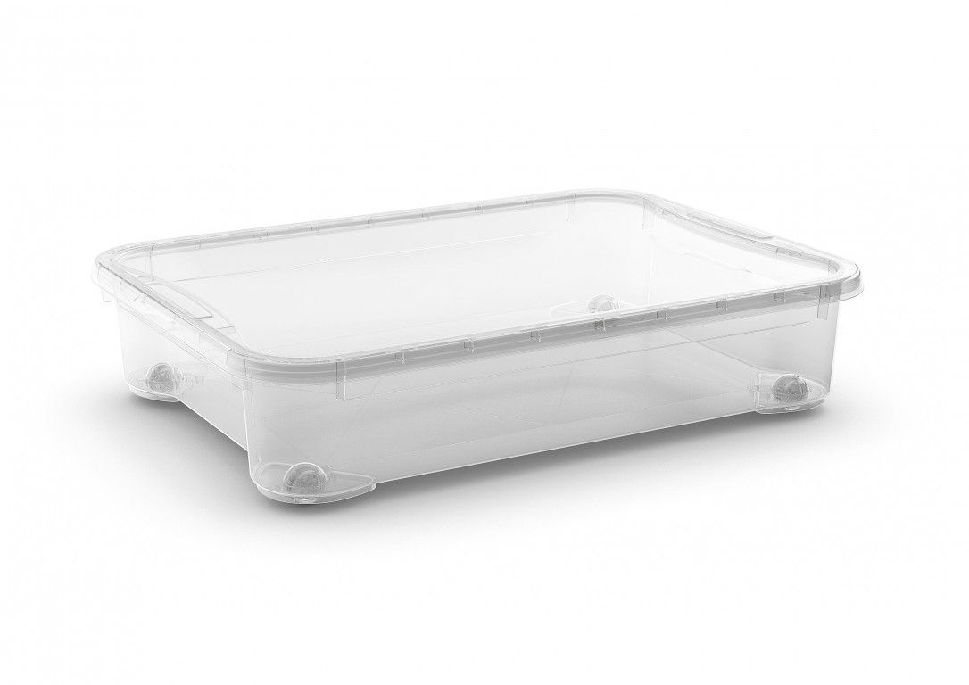 KIS Plastový úložný box - T Box XXM, Transparentní, 54 L