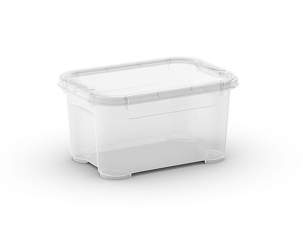 KIS Plastový úložný box - T Box XXS, Transparentní, 5 L