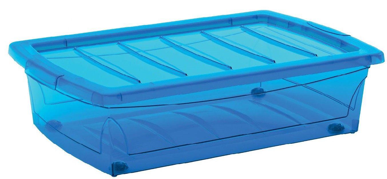 KIS Plastový úložný Spinning Box M Modrý, 25 L