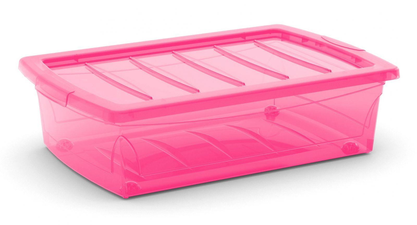 KIS Plastový úložný Spinning Box M Růžový, 25 L