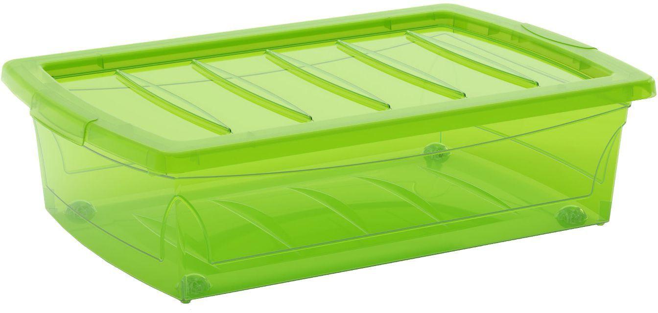 KIS Plastový úložný Spinning Box M Zelený, 25 L
