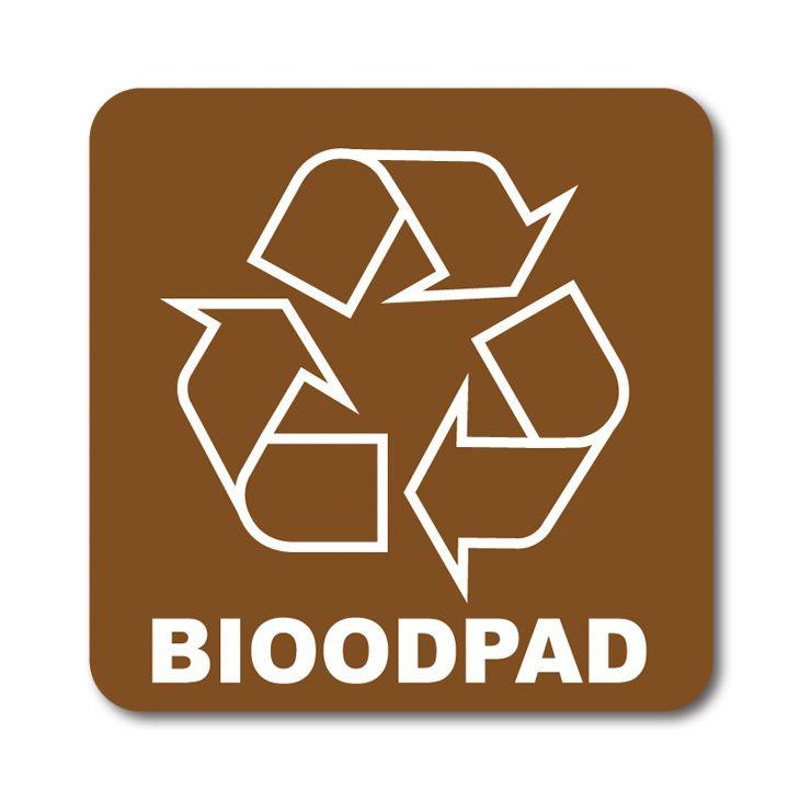 Barevná samolepka tříděný odpad 12x12 cm Bioodpad